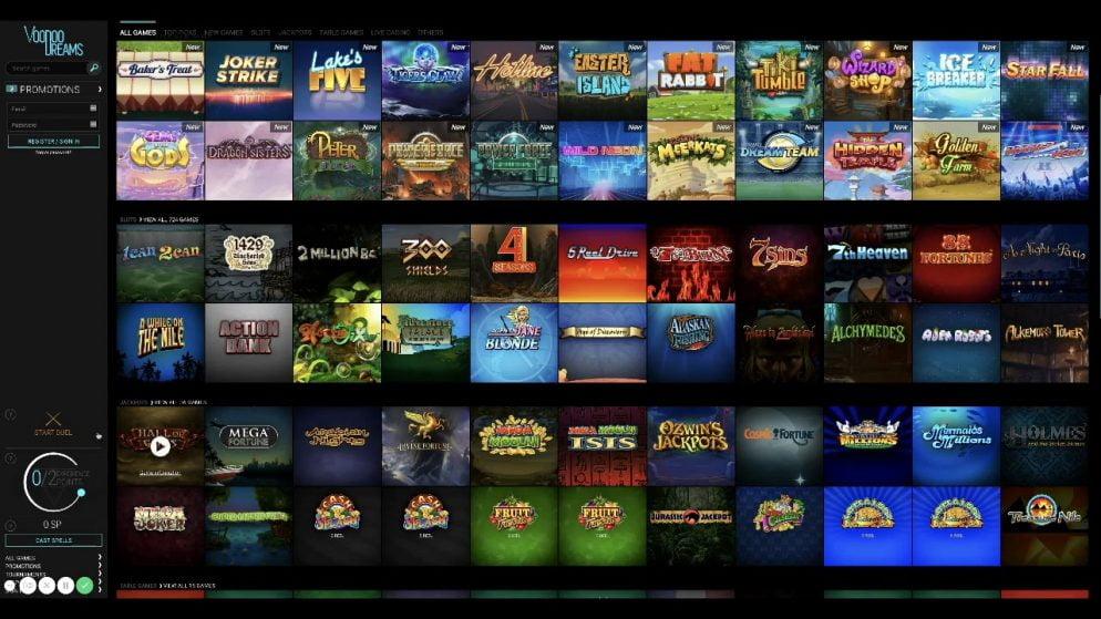 Voodoo Dreams Casino on salaperäinen pelipaikka